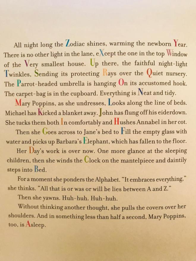 Mary Poppins From A to Z nursery description