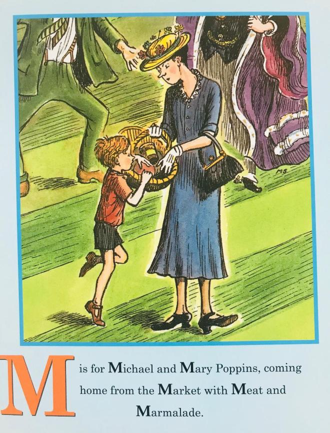 Mary Poppins Letter M