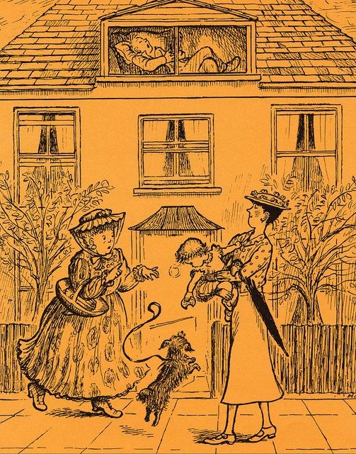 Vintage Illustration Mary Poppins From A to Z