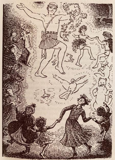 Mary Poppins celebration Midsummers Eve